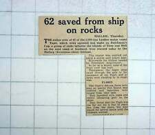 1951 Entire Crew Of Motor Vessel saved by Mallaig Lifeboat