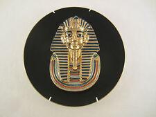 TUTANCHAMUN PHARAO BÜSTE WAND TELLER PORZELLAN Nr. 3764 C 22 Kt. KARAT GOLD 1992