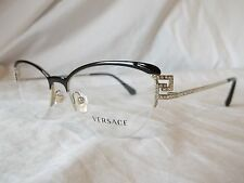 VERSACE EYE GLASSES FRAME VE1239B 1291 BLACK PALE GOLD 53-17-140 NEW & AUTHENTIC