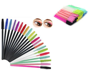 Silicone Disposable Mascara Brush Eyelash Wand Travel Makeup Brushes UK Seller