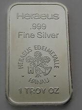 HERAEUS -ARGOR Silver bar 1oz .999  silberbarren