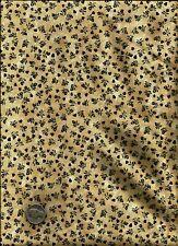 """Lancaster Winter"" Print rust gold brown on tan Fabric by Kim Shaeffer -Balson"
