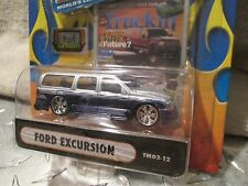 00 FORD EXCURSION SILVER / PURPLE  Truckin ACTION 1/64 8+ slammed MUSCLE MACHINE