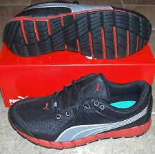 NEW PUMA OSURAN Black Red Running Womens 8.5 (7Y) speed NIB LTD NR