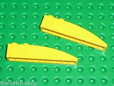 LEGO 2 yellow slope brick ref 42022 / set 4888 7746 8265 8143 4404 4513 6753 ...