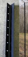 8' with 4' Fence Post Angle Steel Pkg of 9 deer garden | 8' above ground set up