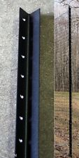 8' with 4' Fence Post Angle Steel Pkg of 9 deer garden   8' above ground set up