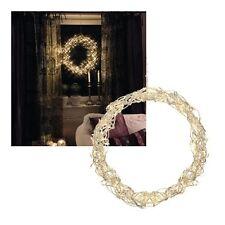 "Diseño LED Licht-Kranz"" Curly ""Luces Corona para Puerta Pared Drahtkranz Metal"