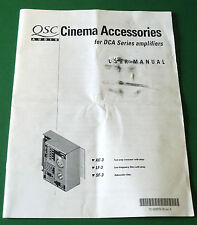 QSC Audio Cinema Accessories for DCA Series Amplifiers User Manual