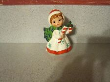 Vintage Lefton Christmas Girl with Candy Cane - Excellent Condition