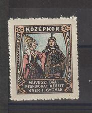 Hungarian Poster Stamp Middle Ages Artist Richard Geiger