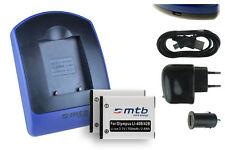 2x Batterie + USB Caricatore EN-EL10 per Nikon Coolpix S203, S205, S210, S220