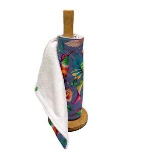 Reusable kitchen roll, unpaper towels, Hummingbird eco friendly kitchen cloths