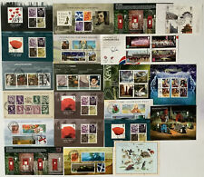 More details for collection of 22 x modern gb fine used used miniature sheets.