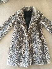 New Look Animal Print Faux Fur Coat Size 8 Brand New 🎀
