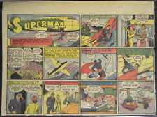 SUPERMAN SUNDAY COMIC STRIP #25 April 21, 1940 2/3 FULL Page DC Comics RARE