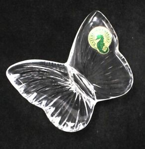 WATERFORD Made In Ireland Decorative CRYSTAL Glass Butterfly  - H64