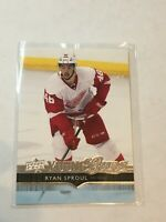 F57218  2014-15 Upper Deck #220 Ryan Sproul YG RC red wings