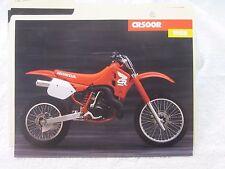 NOS Honda 1988 CR500 DEALER SALES BROCHURE
