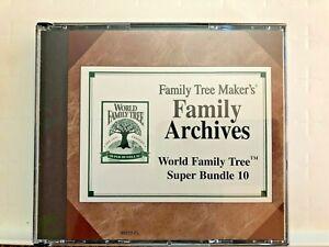 Family Tree Maker's World Family Super Bundle 10 CD ROM Vol 48-52 Genealogy