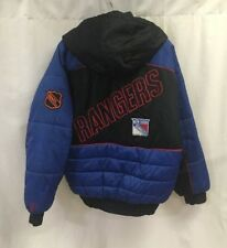 Vintage New York Rangers NHL Insulated Pro Player Jacket Size Small Spellout