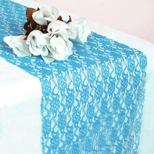 """PACK of 25 Wedding 12"""" x 108"""" Lace Table Runner Party Venue banquet Decoration"""