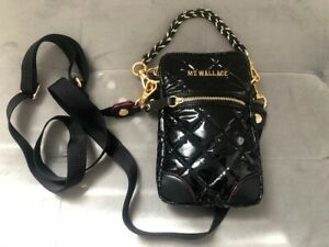 Authentic NEW MZ WALLACE Black Micro Crosby Crossbody Phone Bag