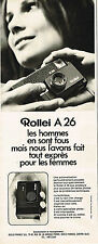 PUBLICITE ADVERTISING 035  1973  ROLLEI  appareil photo A 26