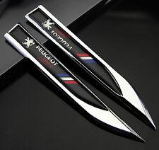 2pcs 3D Auto Fenders Schriftzug Aufkleber Emblem für Dolch Frankreich Racing