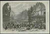 1868 Antique Print - THEATRE DRURY LANE KING O SCOTS RISING APPRENTICES (272)