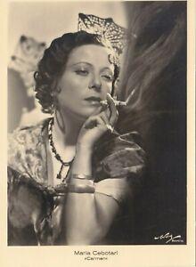 OPERA SINGER PHOTO/POSTCARD OF Maria Cebotari soprano in Carmen