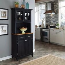 Kitchen Hutch Buffet Cabinet Rustic Bakers Rack Food Pantry Dining Room Storage