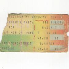 Zz Top Concert Ticket Stub Philadelphia 3/29/80 Spectrum Expect No Quarter Tour