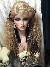 """32"""" LONG Blonde, Brown, Mix, Lace Front With Side Part,  Spiral Curl Wig💝"""
