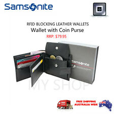 Samsonite RFID Blocking Leather Wallet with Coin Purse 67T005 RRP$79.95 BLACK