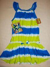 Crazy8 by Gymboree TROPICAL BATIK Tie Dye Blue Green White Dress curly NWT 3T