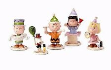 Lenox PEANUTS Snoopy Happy New Year 5 piece Figurine Set NEW IN BOX!