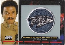 STAR WARS GALACTIC FILES S1 PR-27 EMBROIDERED PATCH MILLENIUM FALCON LANDO