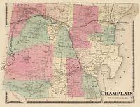 Champlain New York  - Beers 1869 - 23.00 x 30.19