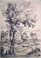 Radierung, Arkadische Landschaft, G.F. Grimaldi, um 1660, Bartsch 12