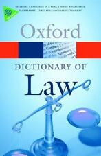 Oxford  Dictionary of Law  7th Edition