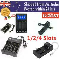 1/2/3/4 Slots Smart USB 18650 Battery Charger 3.7V Rechargeable Battery AA AAA
