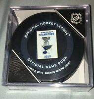 ST LOUIS BLUES Stanley Cup Banner Raising NIGHT OCT 2nd 2019 OFFICIAL GAME PUCK