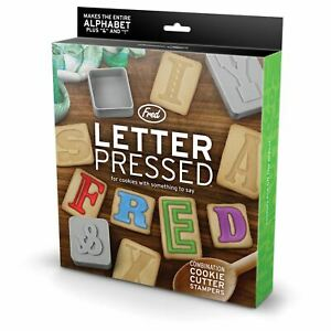 Fred Alphabet Letter Pressed Cookie Cutters & Stampers Baking Set