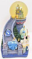 Disney Store Cinderella Musical Snow Globe Castle Lights Up Bibbidi Bobbidi Boo