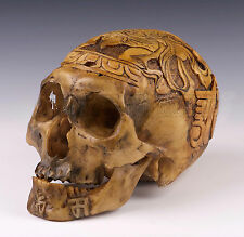 New Hand mande Kapala Carved Resin Replica 1:1 Human Skull Tibetan Buddhism