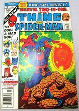 THE THING & SPIDERMAN MARVEL 2 IN 1 COMIC BOOK ISSUE 2 AVENGERS **