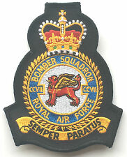 RAF No.207 Bomber Squadron Official Crest Royal Air Force Embroidered Patch