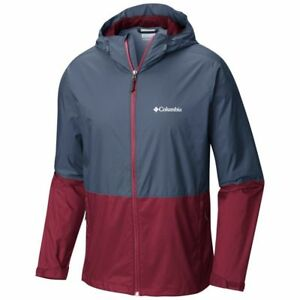 COLUMBIA Men's ROAN MOUNTAIN Shell Jacket - Navy/Red - Small - NWT LAST ONE LEFT
