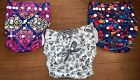 Alva+Baby+Cloth+Diapers+Lot+NO+INSERTS+ADJUSTABLE+SIZE+Girls+Prints+Dragonfly%C2%A0